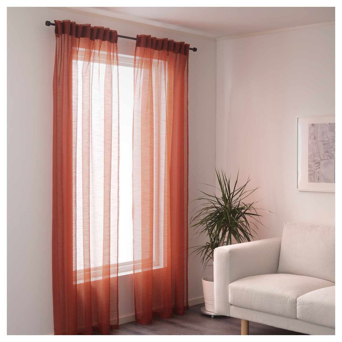 Ikea gjertrud sheer curtains 1 pair the curtains can be used on a curtain rod