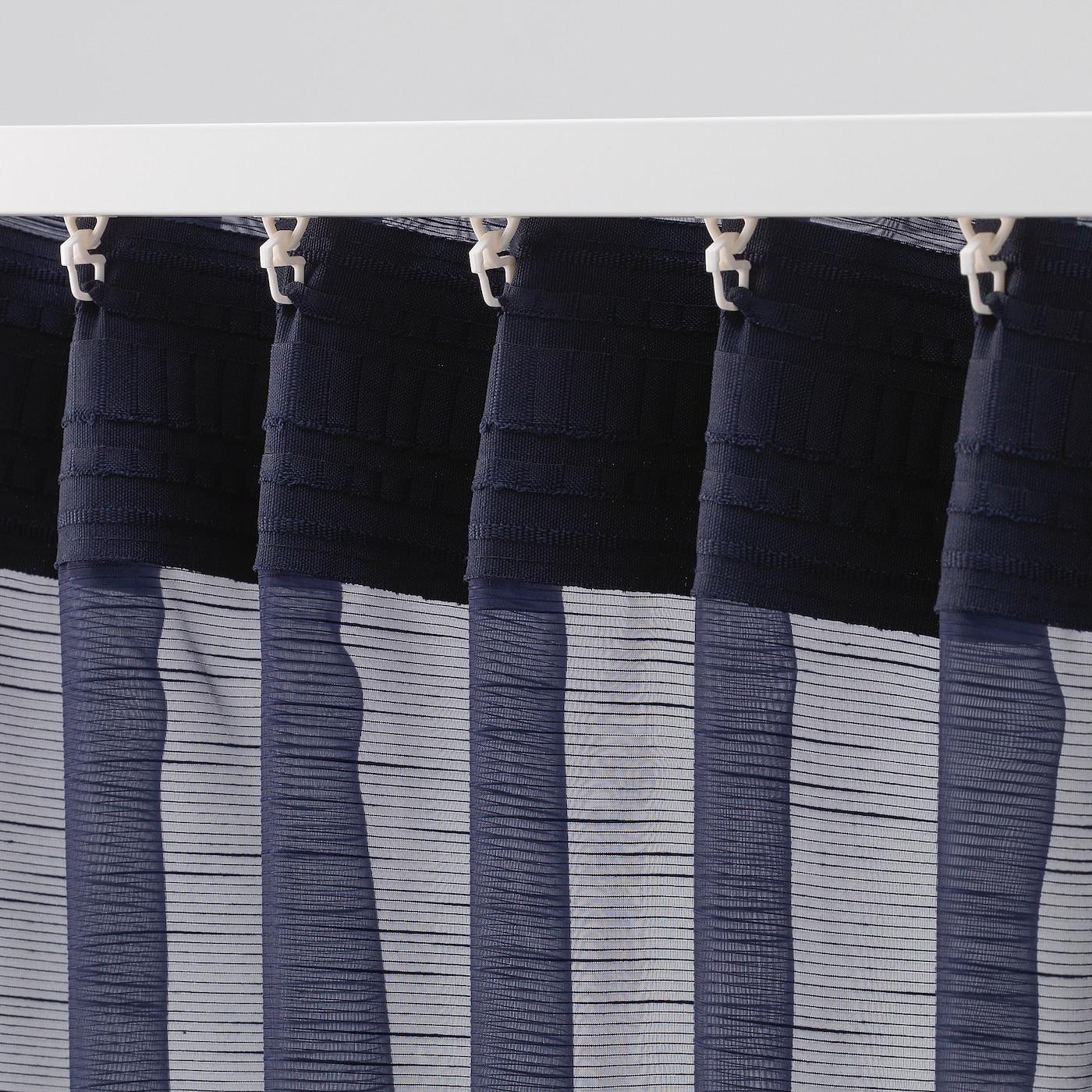 Gjertrud Dark Blue Sheer Curtains 1 Pair 145x250 Cm Ikea