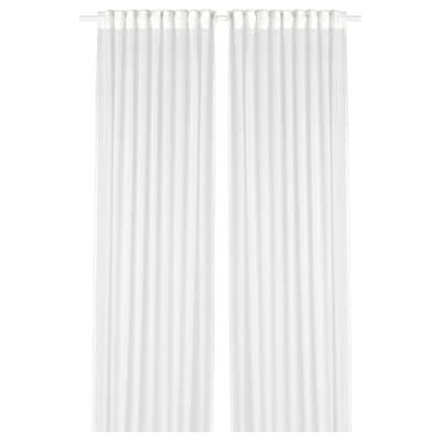 GJERTRUD Sheer curtains, 1 pair, white, 145x250 cm