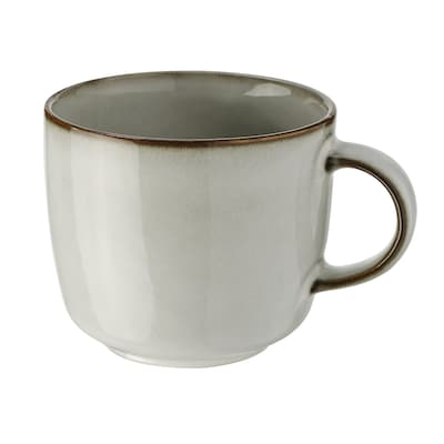 large CAPPUCCINO COFFEE CUP | wide shallow latte mug