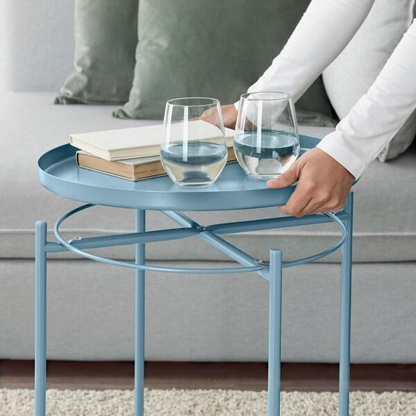 GLADOM Tray table, blue, 45x53 cm