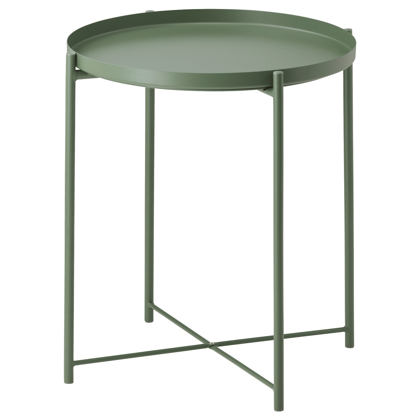 Gladom tray table dark green 45x53 cm ikea for Tables de nuit ikea