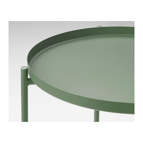 Gladom tray table dark green 45x53 cm ikea - Mesa auxiliar malm ikea ...