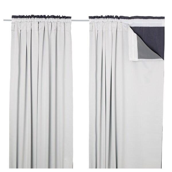 GlansnÄva Light Grey Curtain Liners 1 Pair 143x240 Cm Ikea