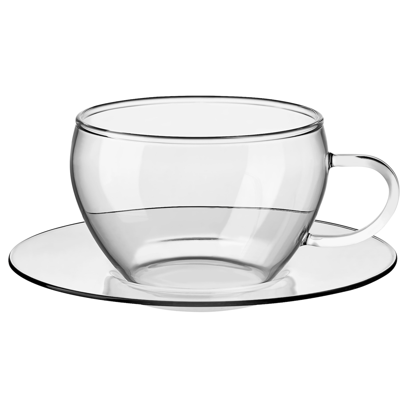 IKEA GLASBULT cup with saucer