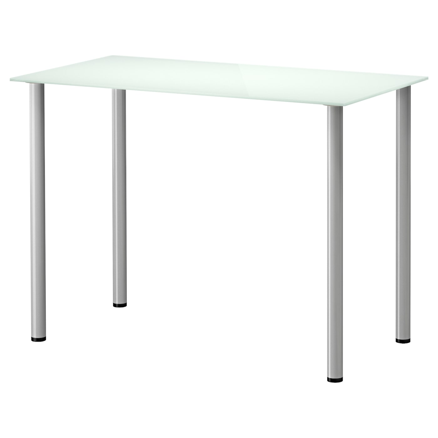 glasholm adils table glass white silver colour 99x52 cm ikea. Black Bedroom Furniture Sets. Home Design Ideas