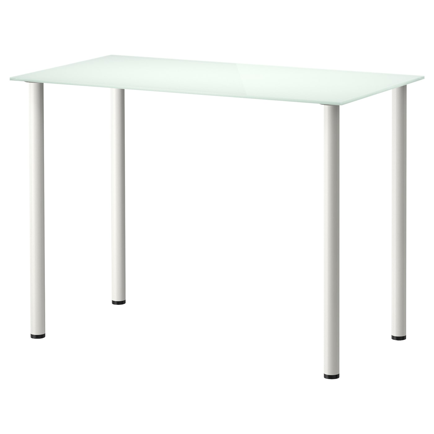 Glasholm adils table glass white white 99x52 cm ikea for Table basse blanc ikea
