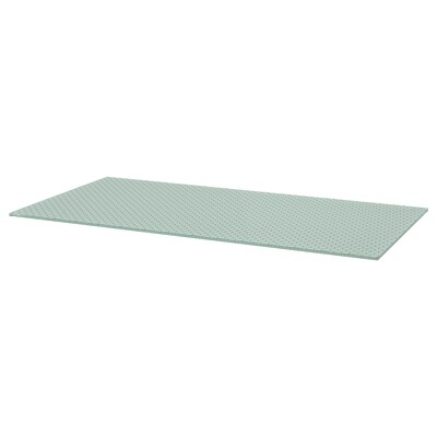 GLASHOLM table top glass/honeycomb patterned 148 cm 73 cm 1.0 cm 50 kg