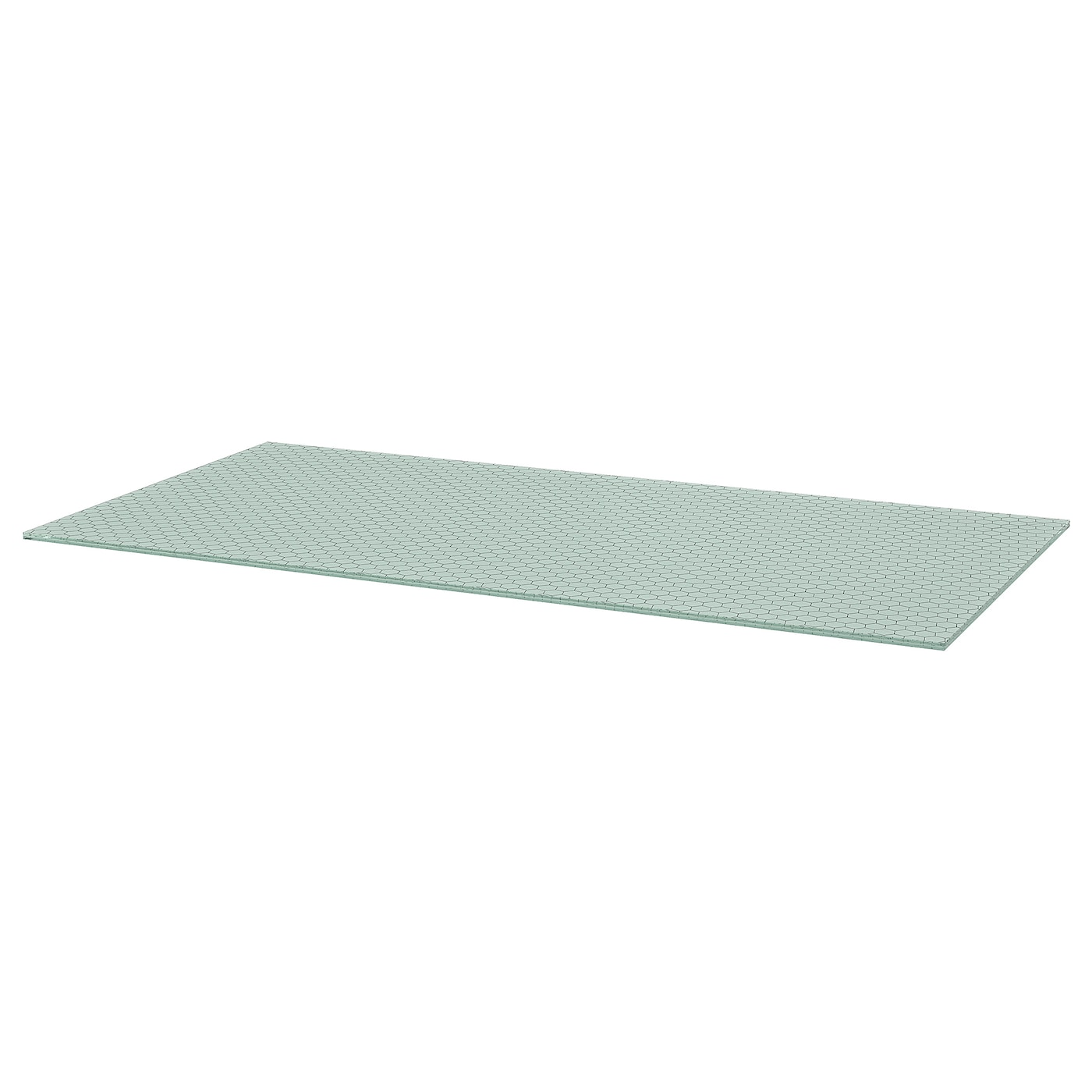 IKEA GLASHOLM table top The table top in tempered glass is stain resistant and easy to clean.