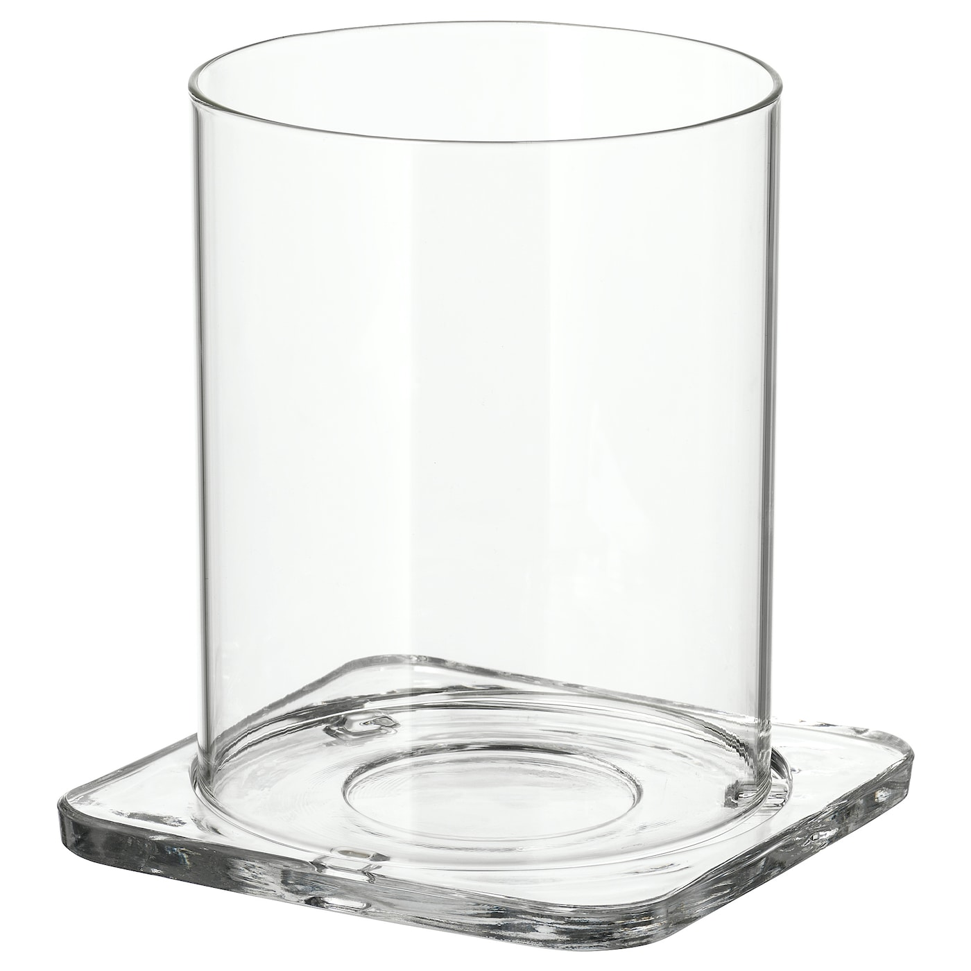 IKEA GLASIG lantern The clear glass reflects and enhances the warm glow of the candle-flame.