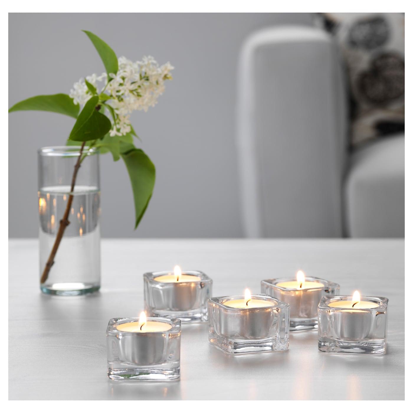 glasig tealight holder clear glass 5x5 cm ikea. Black Bedroom Furniture Sets. Home Design Ideas