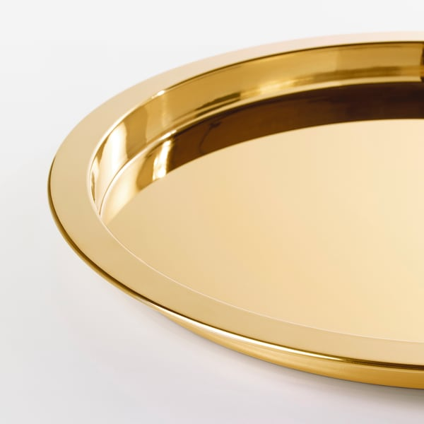 GLATTIS tray brass-colour 38 cm