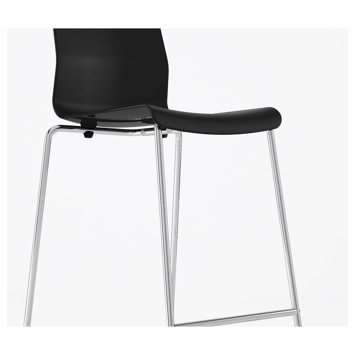 IKEA GLENN bar stool A special surface treatment makes the seat extra scratch resistant.