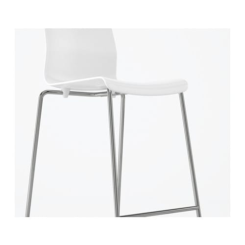 Glenn Bar Stool White Chrome Plated 66 Cm Ikea