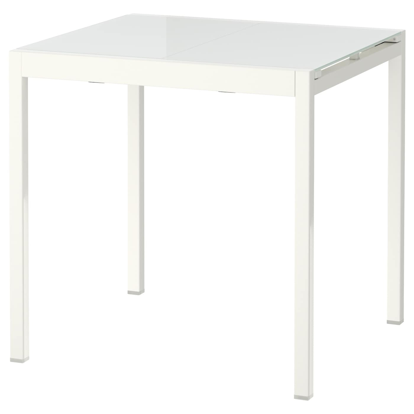 Glivarp extendable table white 75 115x70 cm ikea Table ronde extensible blanche