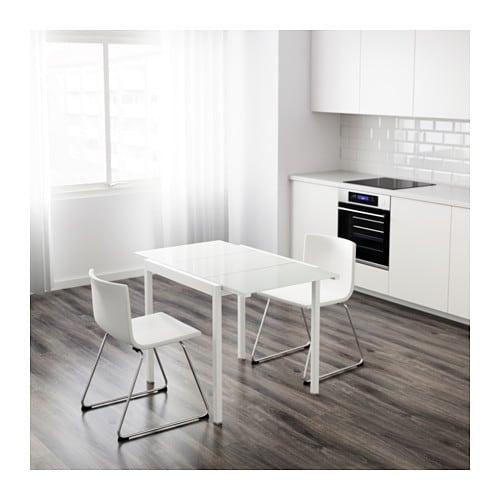 Glivarp extendable table white 75 115x70 cm ikea - Ikea table extensible ...