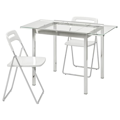 NISSE transparent, chrome plated white