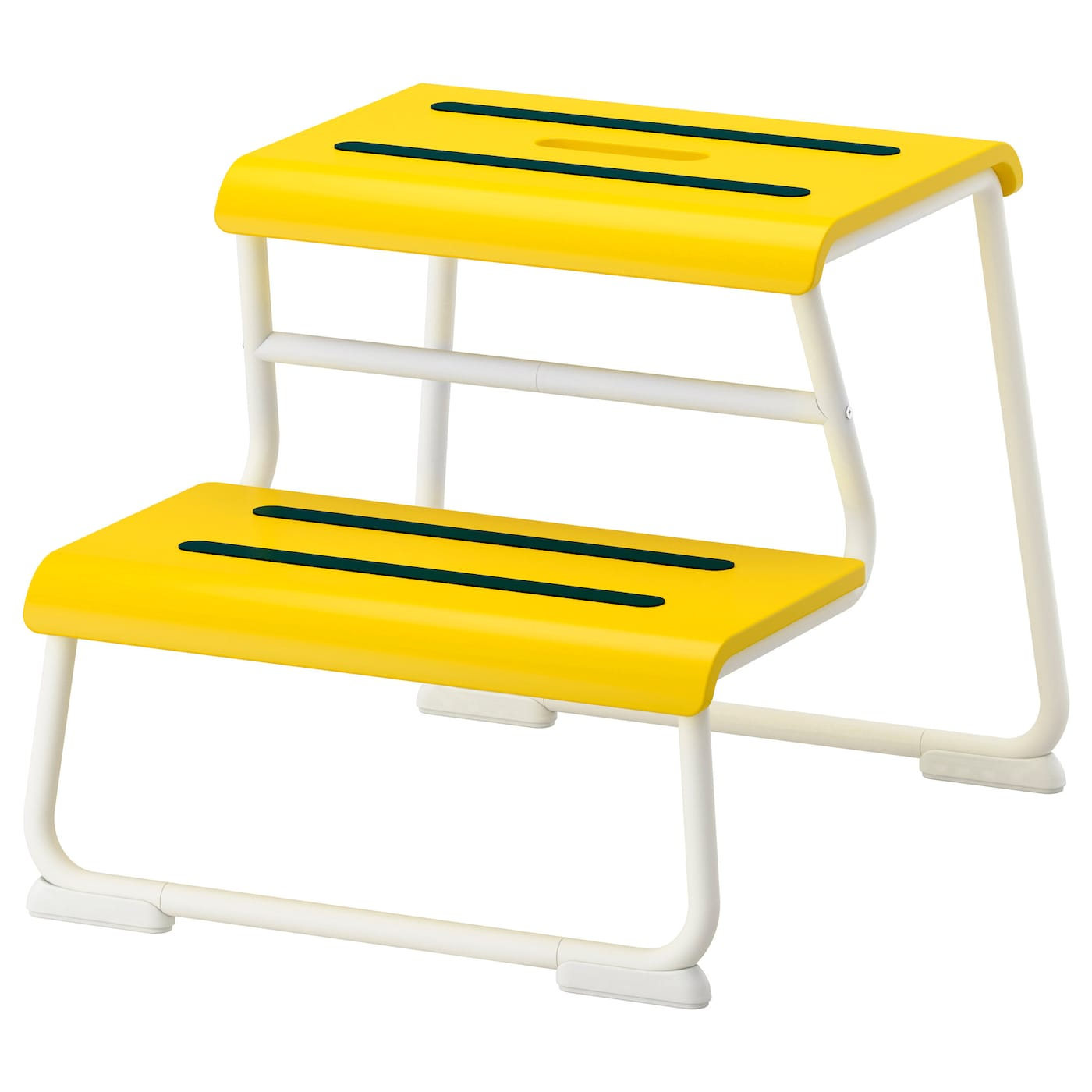 Glotten Step Stool Yellow White Ikea
