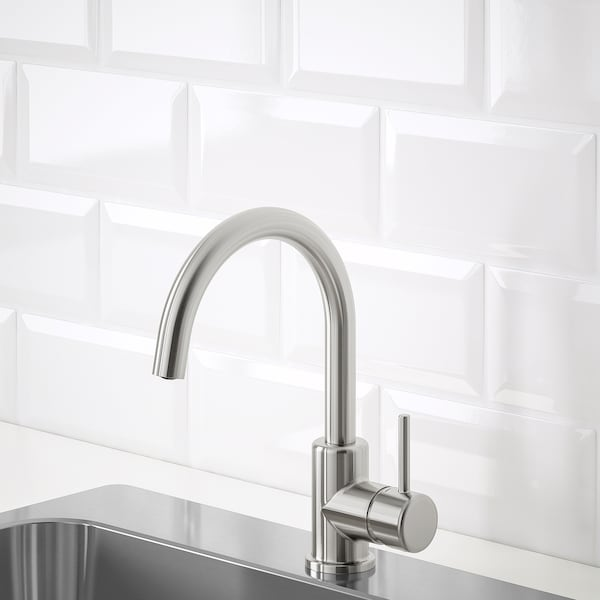 GLYPEN Mixer tap, stainless steel effect