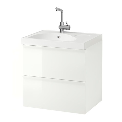 GODMORGON / EDEBOVIKEN Wash-stand with 2 drawers IKEA 10 year guarantee.   Read about the terms in the guarantee brochure.