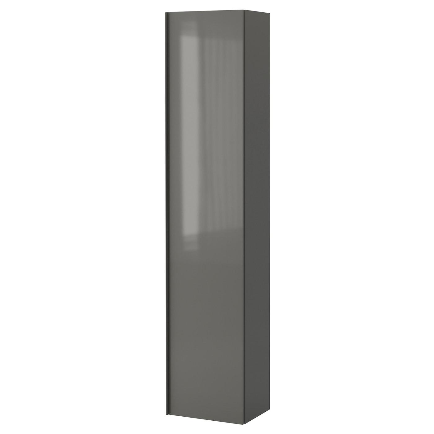 GODMORGON High cabinet High gloss grey 40x30x192 cm   IKEA