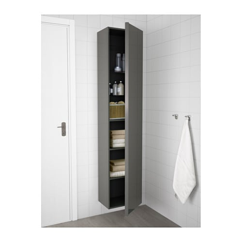 godmorgon high cabinet high gloss grey 40x30x192 cm ikea. Black Bedroom Furniture Sets. Home Design Ideas