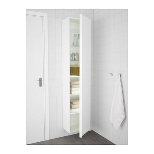 Hemnes Ikea Replacement Parts ~ GODMORGON High cabinet High gloss white 40x30x192 cm  IKEA