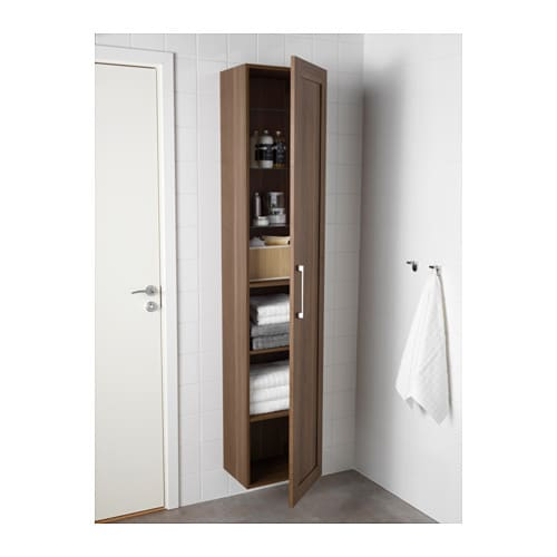 godmorgon high cabinet walnut effect 40x30x192 cm ikea. Black Bedroom Furniture Sets. Home Design Ideas