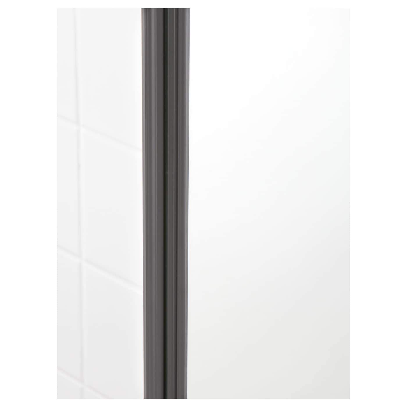 godmorgon high cabinet with mirror door high gloss grey
