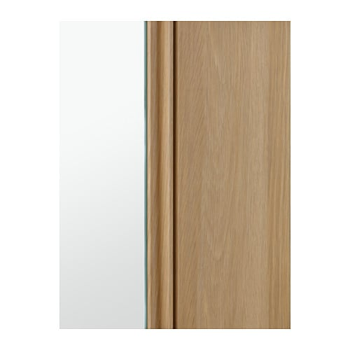 godmorgon high cabinet with mirror door white stained oak
