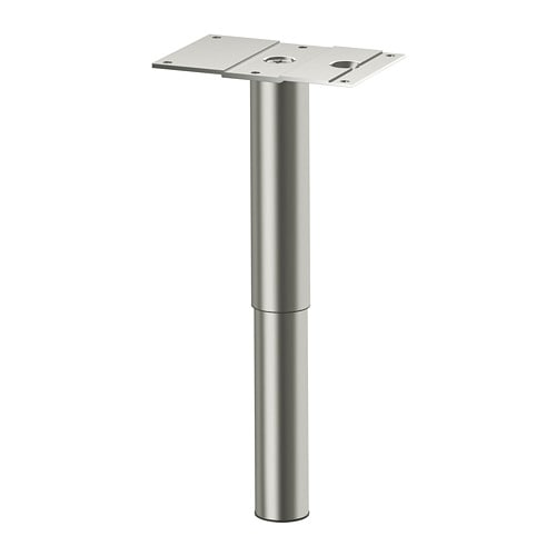 godmorgon leg round stainless steel 14 25 cm ikea. Black Bedroom Furniture Sets. Home Design Ideas