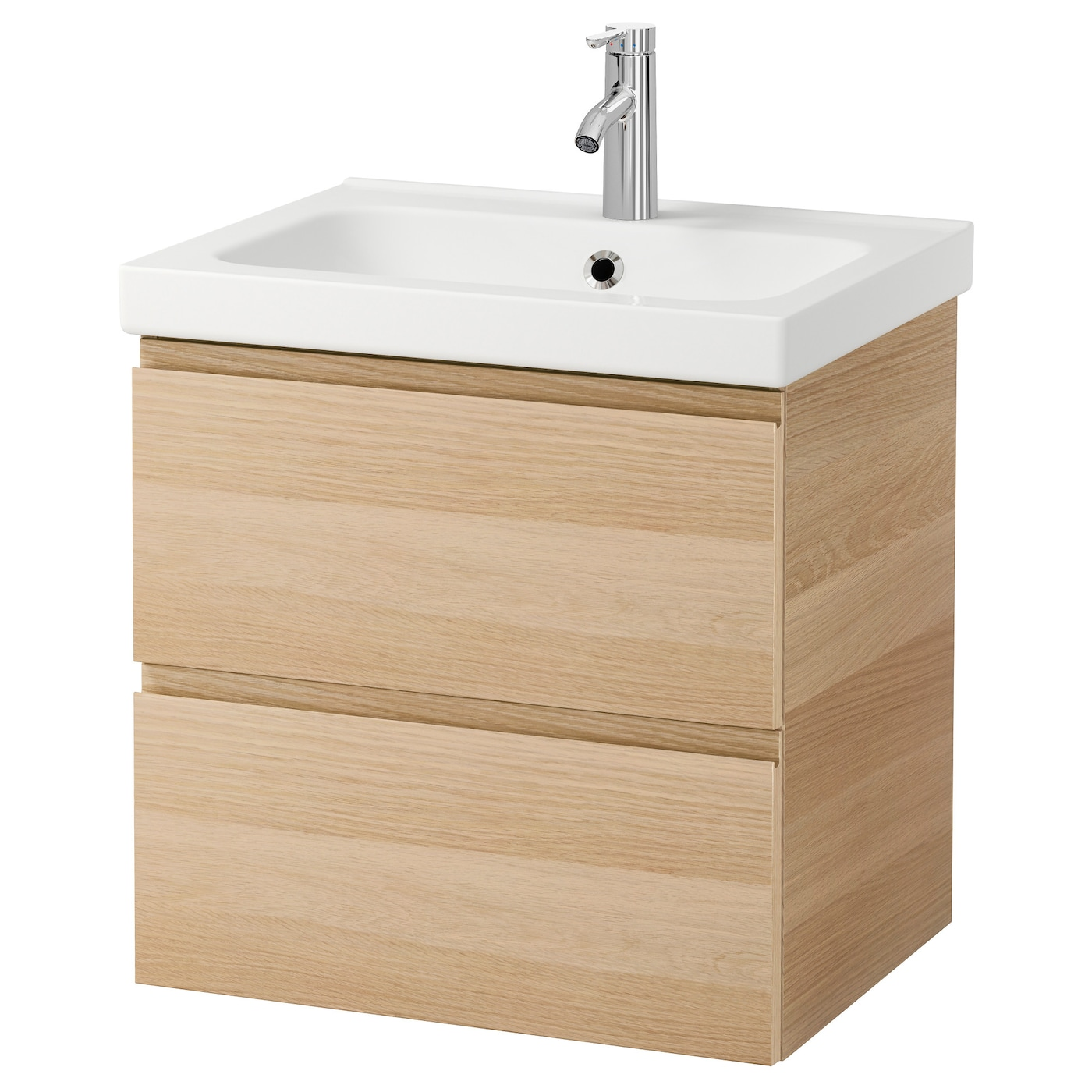 ... Wash-stand with 2 drawers White stained oak effect 60x49x64 cm - IKEA