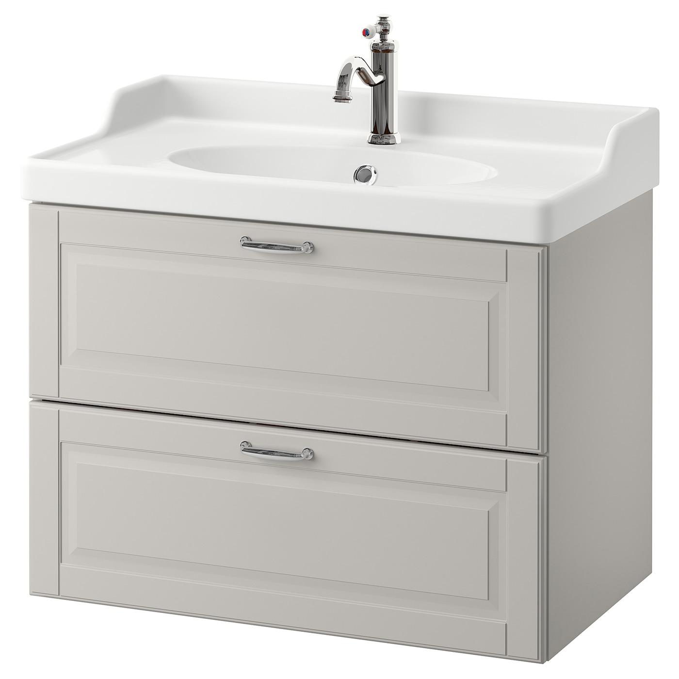GODMORGON/RÄTTVIKEN Wash-stand with 2 drawers Kasjön light ...