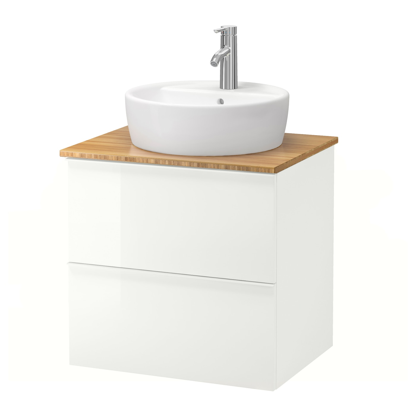 godmorgon tolken t rnviken wsh stnd w countertop 45 wsh basin high gloss white bamboo 62x49x74. Black Bedroom Furniture Sets. Home Design Ideas
