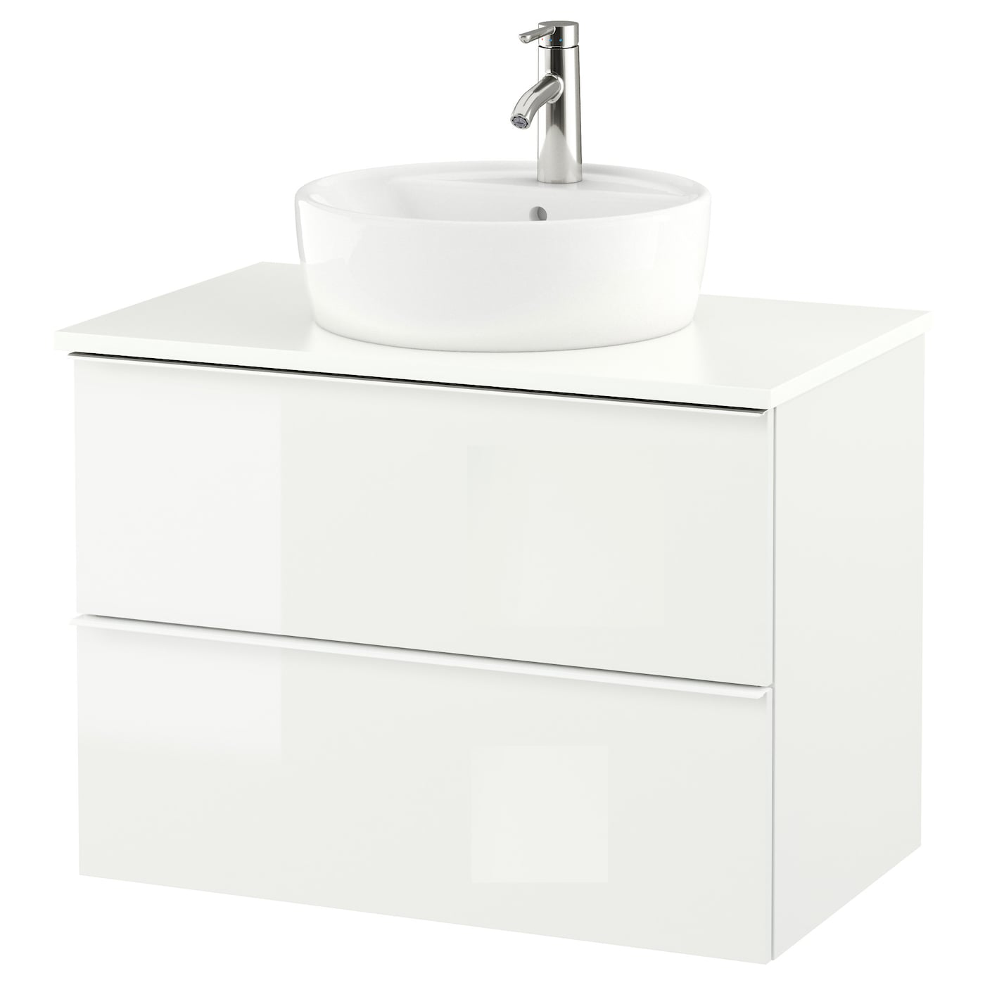 White gloss bathroom unit - Ikea Godmorgon Tolken T Rnviken Wsh Stnd W Countertop 45 Wsh Basin