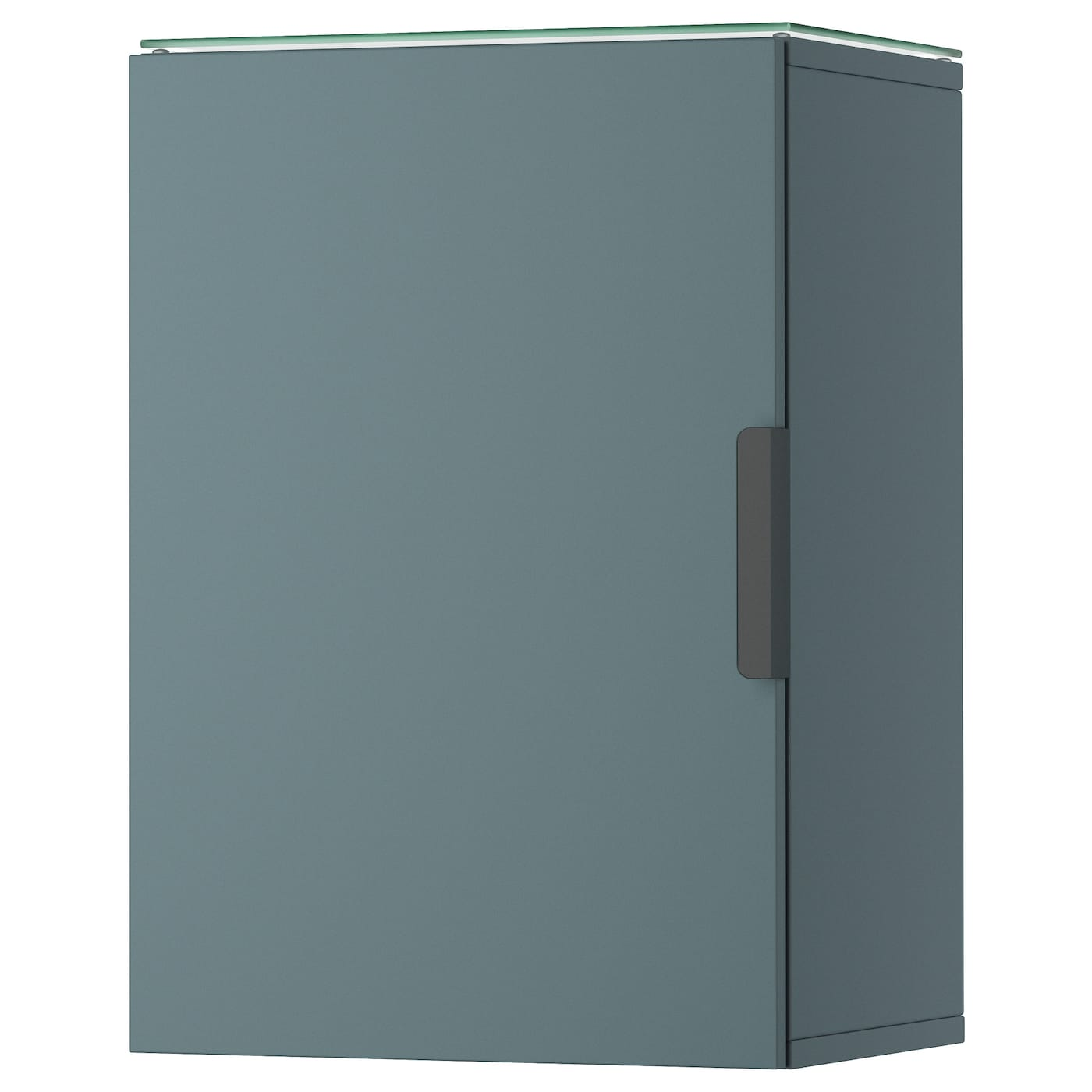 GODMORGON Wall cabinet with 1 door Grey-turquoise 40x32x58 cm - IKEA