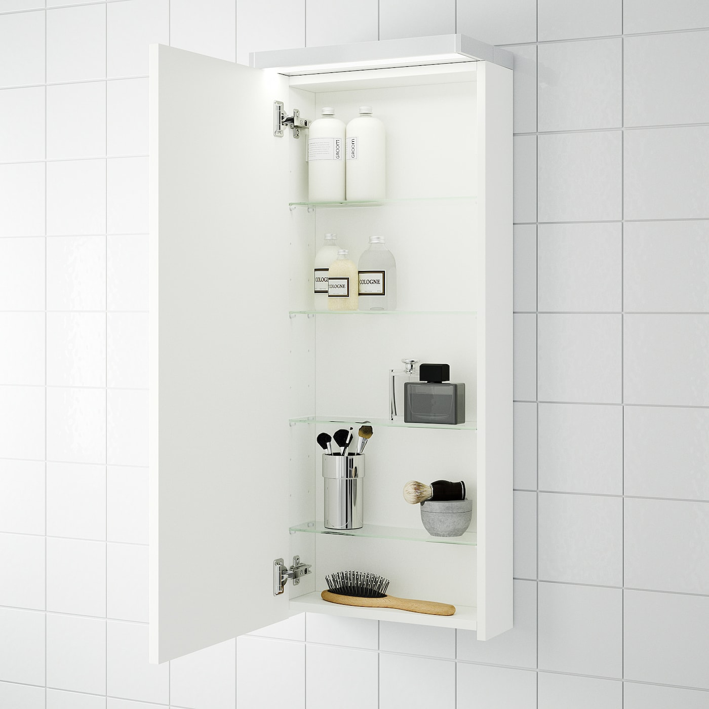 Picture of: Godmorgon White Wall Cabinet With 1 Door 40x14x96 Cm Ikea
