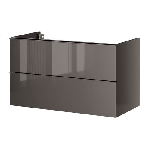 GODMORGON Wash-stand with 2 drawers IKEA Smooth-running drawers with pull-out stop.  You can easily change the size of the box by moving the divider.