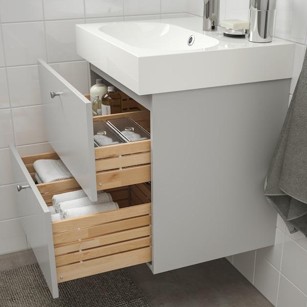 GODMORGON Wash-stand with 2 drawers, Gillburen light grey, 60x47x58 cm