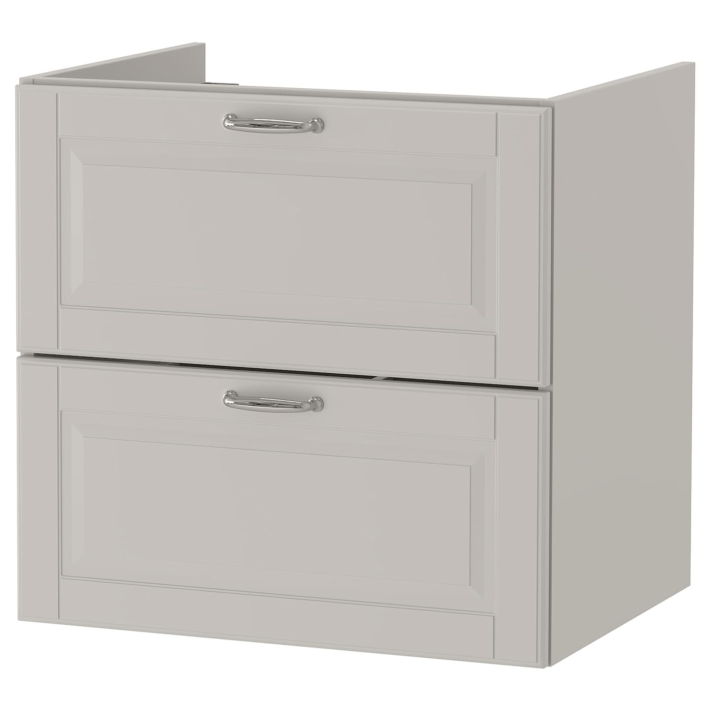 godmorgon wash stand with 2 drawers kasj n light grey 60x47x58 cm ikea. Black Bedroom Furniture Sets. Home Design Ideas