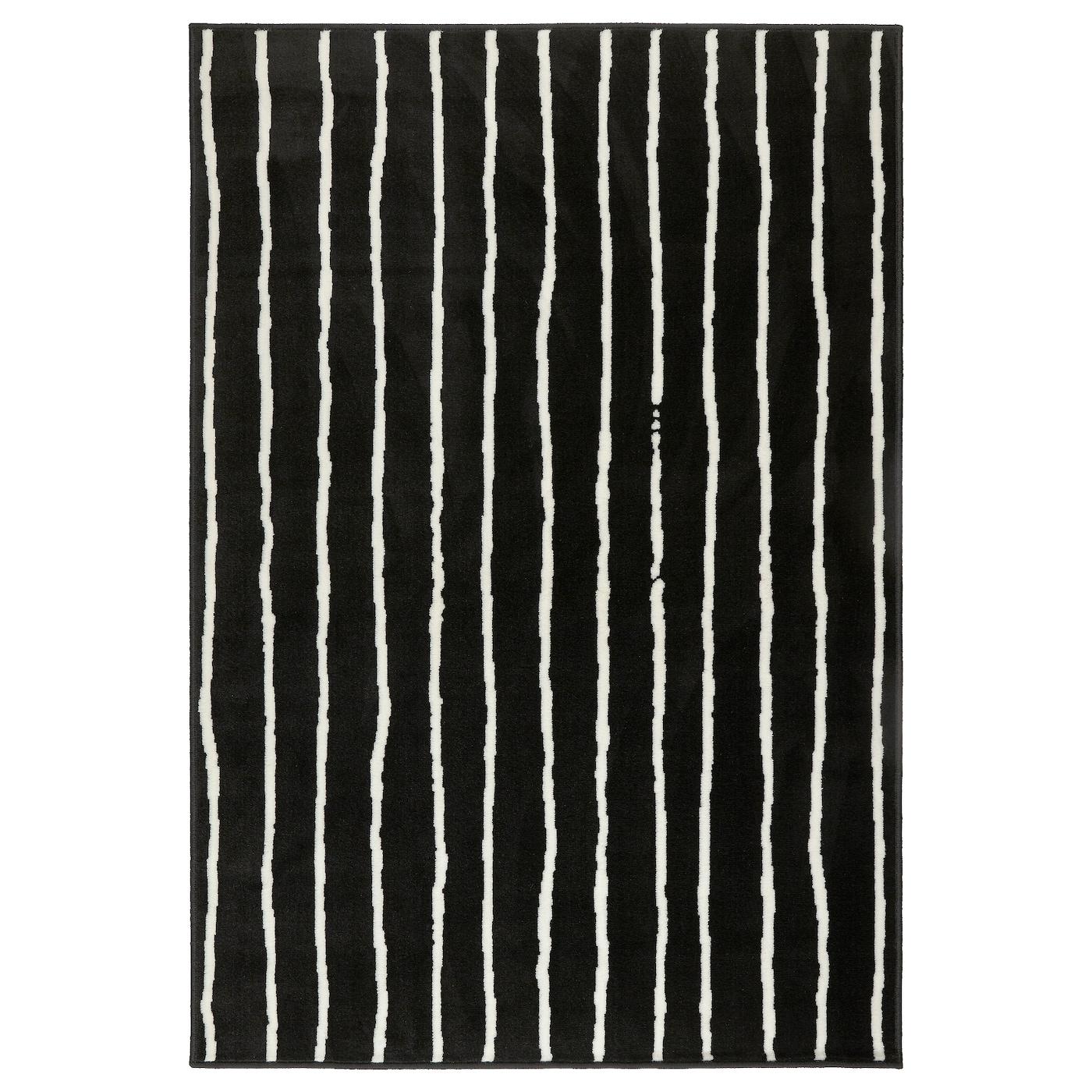 GÖrlÖse Black White Rug Low Pile Ikea