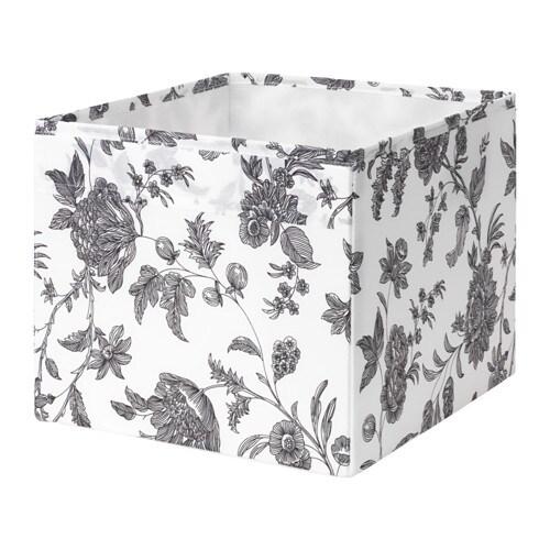 Gop N Box Floral Patterned Black White 30x30x25 Cm Ikea