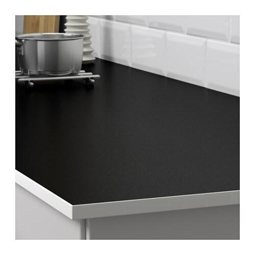 Gottsk R Worktop Double Sided White Black With White Edge