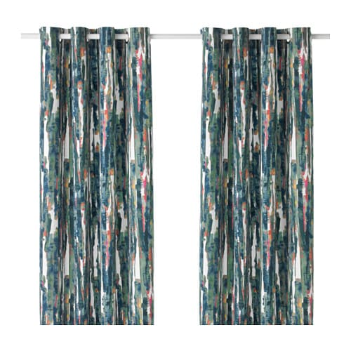 IKEA GRÄSLILJA curtains, 1 pair