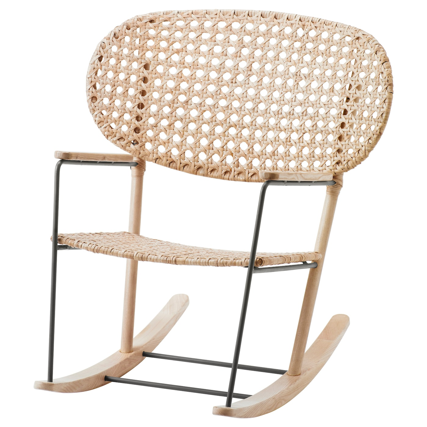 IKEA GRÖNADAL Rocking Chair Made From Rattan And Ash, Natural Materials  That Age With