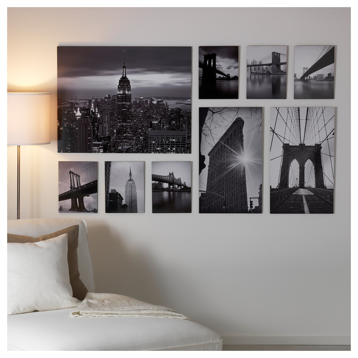 Ikea Orlando Large Family Showroom Scenario: GRÖNBY Picture, Set Of 9 Sights Of The City 179 X 112 Cm