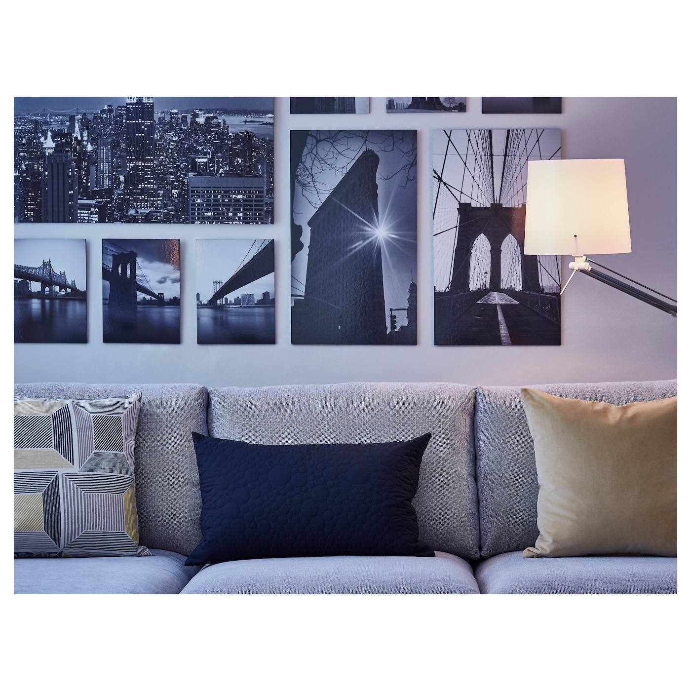 Gr Nby Picture Set Of 9 Sights Of The City 179×112 Cm Ikea