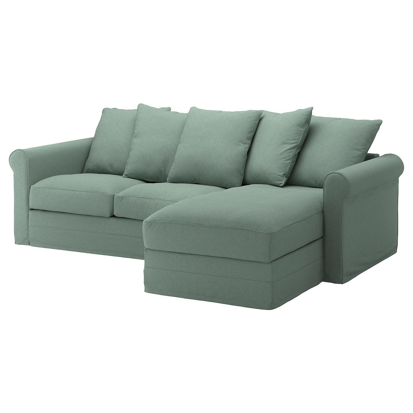 IKEA GRÖNLID 3-seat sofa The cover is easy to keep clean since it is removable and machine washable.