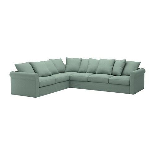 GRÖNLID Corner sofa, 5-seat Tallmyra light green - IKEA