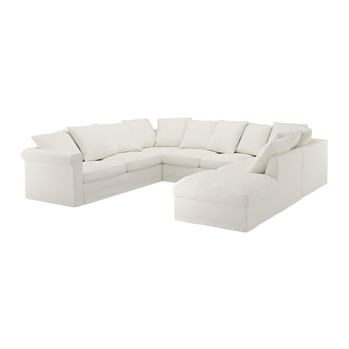 IKEA GRÖNLID U Shaped Sofa, 6 Seat